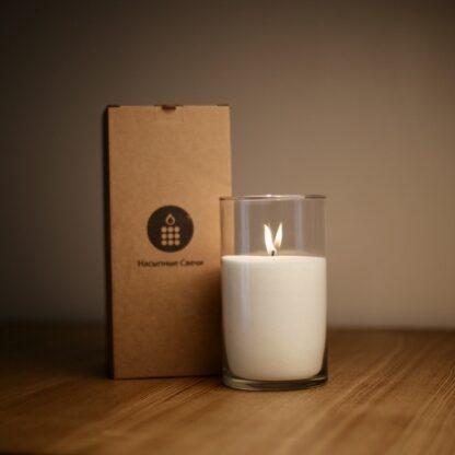 насыпная свеча 20 см с коробкой
